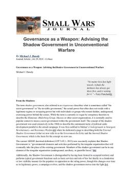 Governance as a Weapon: Advising the