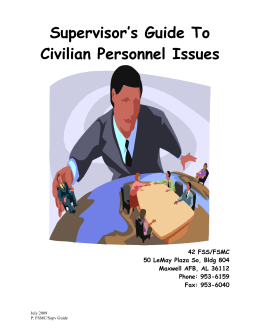 Supervisor`s Guide To Civilian Personnel Issues