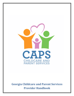 Becoming a CAPS Child care Provider