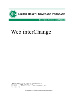 Web interChange - indianamedicaid.com
