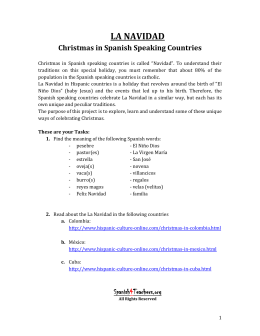 Lesson Plan Spanish Culture Christmas