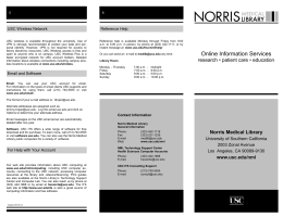 Online Information Services - University of Southern California