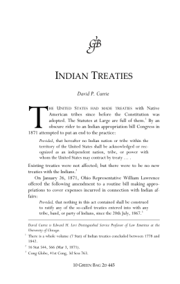 indian treaties