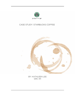 CASE STUDY: STARBUCKS COFFEE