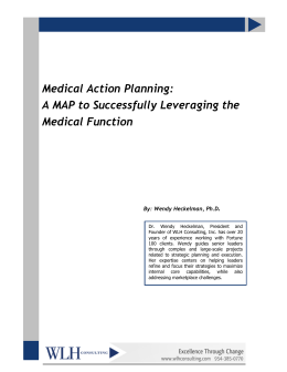 Medical Action Planning: A MAP to Successfully Leveraging the