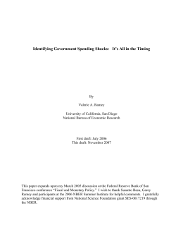 Identifying Government Spending Shocks: It`s All in the Timing