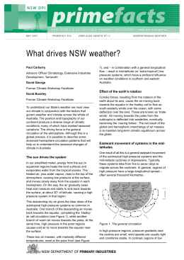 What drives NSW weather? - NSW Department of Primary Industries