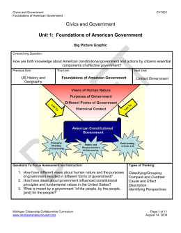 Civics and Government Unit 1: Foundations of American Government