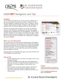 HUSKYNET Navigation and Tips