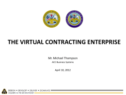 THE VIRTUAL CONTRACTING ENTERPRISE