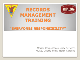 Records Management - MCCS Cherry Point