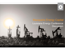 Macquarie Energy Capital - Louisiana Energy Conference