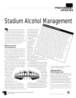 Stadium Alcohol Management