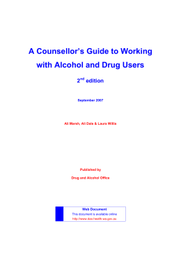 A counsellor`s guide to working with alcohol and drug users (2nd