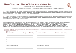 PV Registration Form - Shore Track Officials Association