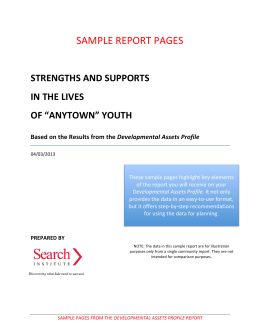 a Sample Report