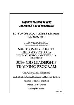 2014-2015 LEADERSHIP training Program