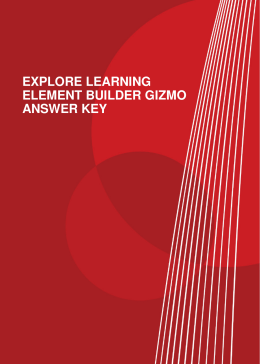 EXPLORE LEARNING ELEMENT BUILDER GIZMO ANSWER KEY