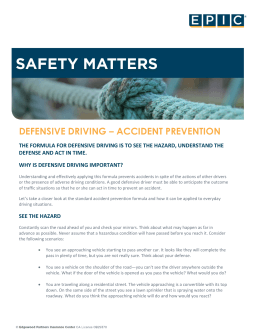 defensive driving – accident prevention