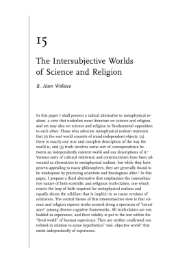 The Intersubjective Worlds of Science and Religion