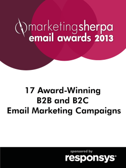 MarketingSherpa`s Email Marketing Awards 2013