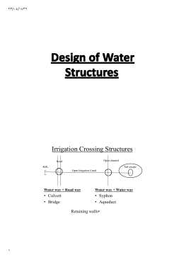 Irrigation Crossing Structures