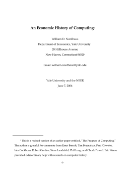 An Economic History of Computing1