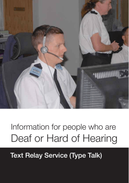 Contact Information for People Who Are Deaf or Hard of Hearing