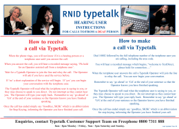 RNID typetalk hearing user instructions