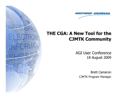 THE CGA: A New Tool for the CJMTK Community