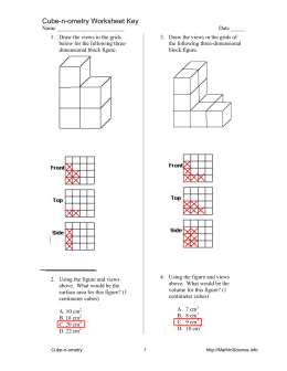Cube-n-ometry Worksheet Key