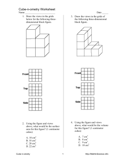 Cube-n-ometry Worksheet