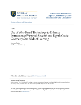 Use of Web-Based Technology to Enhance Instruction of Virginia`s