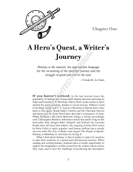 A Hero`s Quest, a Writer`s Journey