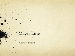 Mayer Line - The Maths Guy in Belgium