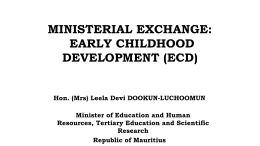 The Inter Country Quality Node Early Childhood Education
