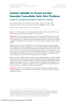 Anatomic Suitability for Present and Next Generation Transcatheter
