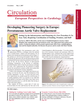 Developing Pioneering Surgery in Europe
