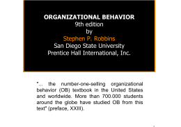 ORGANIZATIONAL BEHAVIOR 9th edition by Stephen P. Robbins
