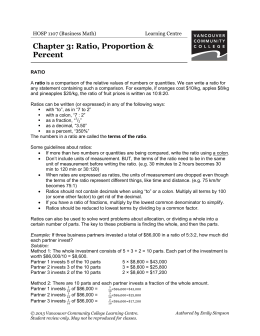 Ratio, Proportion, Percent Change - VCC Library