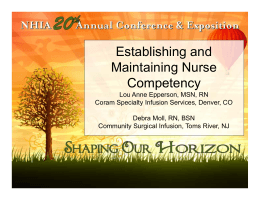 Establishing and Maintaining Nurse Competency