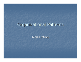 Organizational Patterns PPT Notes