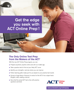 Benefits of ACT Online Prep to Students