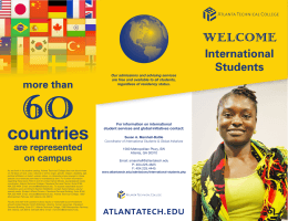 the International Student Brochure