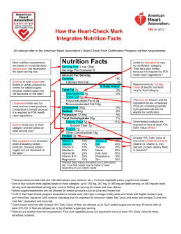 Nutrition Facts - American Heart Association
