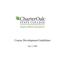 Course Development Guidelines
