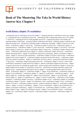 chapter 6 ap world history Ap world history course and exam description vi changes in this edition of the course and exam description acknowledgments the college board would like to.