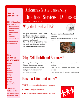 Arkansas State University Childhood Services CDA Classes