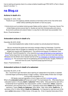 Antecedent actions in death of a salesman
