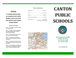 canton public schools - Massachusetts Partnership for Diversity in